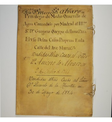 PRIVILEGIO DE MEDIO QUARTILLO DE AGUA (MADRID 1754)