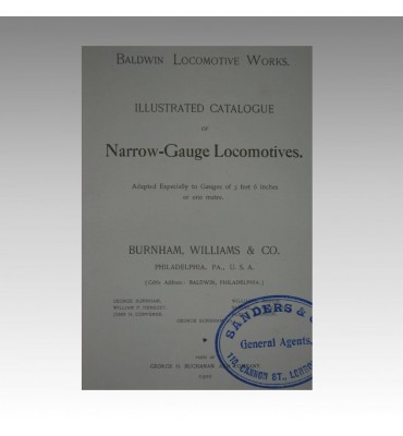 ILLUSTRATED CATALOGUE OF NARROW-GAUGE LOCOMOTIVES.